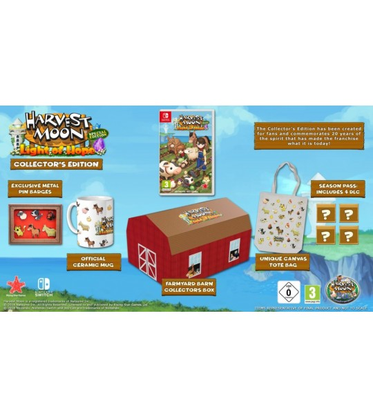 SWITCH  HARVEST MOON LIGHT OF HOPE COLLECTORS EDITION