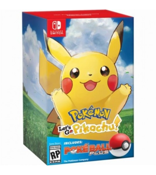 SWITCH POKEMON LETS GO PIKACHU + POKEBALL PLUS BUNDLE