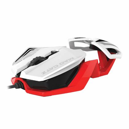 MAD CATZ PC OFFICIALLY R.A.T.1 WIRED GAME MOUSE - WHITE/RED