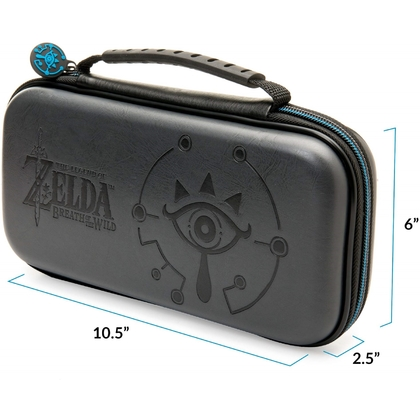 SWITCH OFFICIALLY DELUXE TRAVEL CASE - ZELDA ICON - BLACK