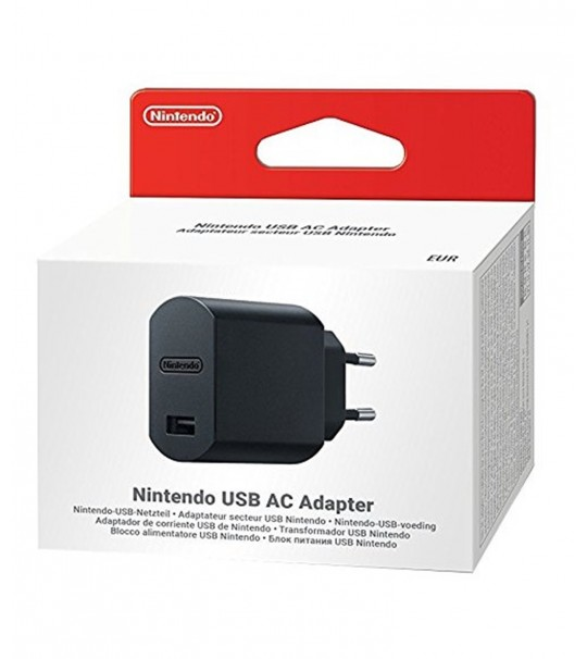 NINTENDO OFFICIAL 2PIN ORIGINAL USB AC ADAPTER[ NO INCLUDED CABLE]