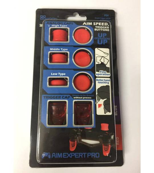 PS4 AIM SPEED TRIGGER & ANALOG CAP - 8 PIECE - RED