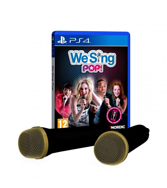 PS4 WE SING POP INCLUDING 2 MICROPHONE BUNDLE