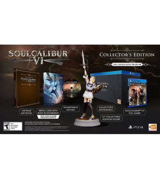 PS4 SOUL CALIBUR VI R3 COLLECTORD EDITION