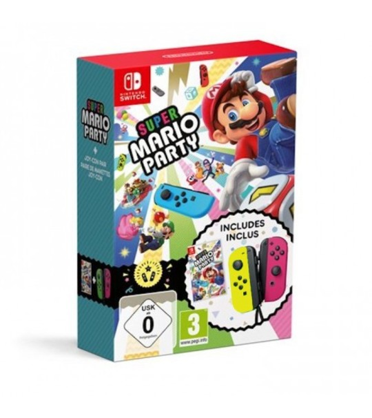 NINTENDO SWTICH MARIO PARTY JOY CON BUNDLE - YELLOW/PINK