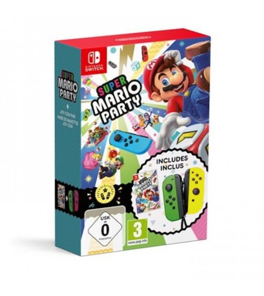 NINTENDO SWTICH MARIO PARTY JOY CON BUNDLE - GREEN/YELLOW