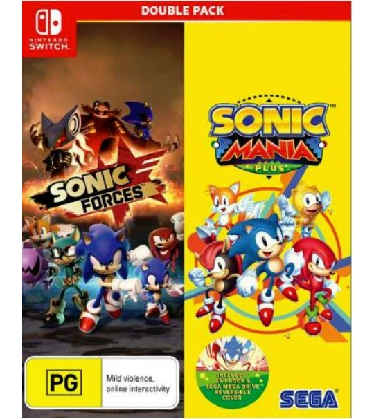 SWITCH SONIC FORCES & SONIC MANIA PLUS DOUBLE PACK