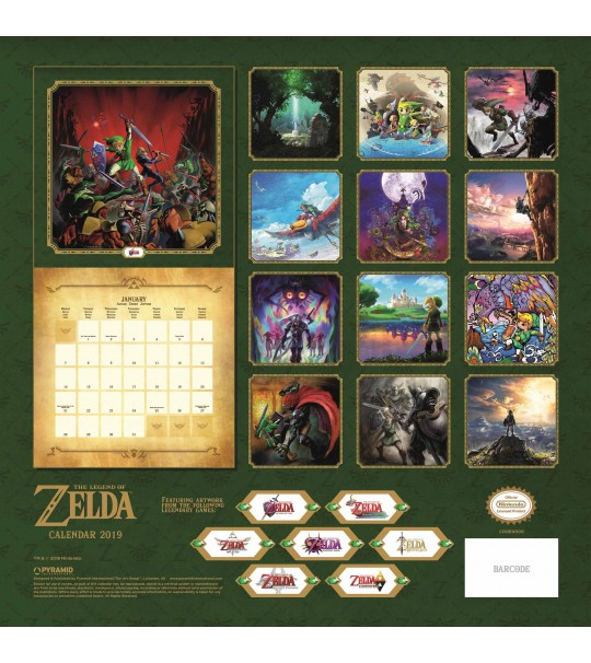 NINTENDO OFFICIAL LEGEND OF ZELDA CALENDER 2019
