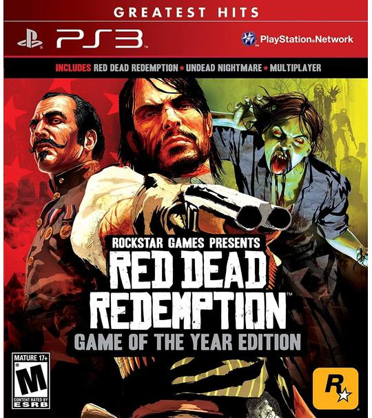 PS3 RED DEAD REDEMPTION GAME OF THE YEAR EDITION - ALL