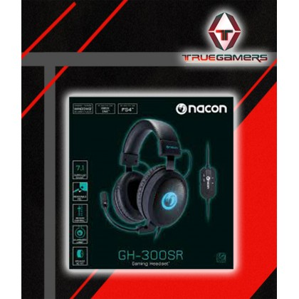 NACON GH-300SR 7.1 SURROUND GAMING  HEADSET FOR PS4/WINDOWS XP/7/8/10