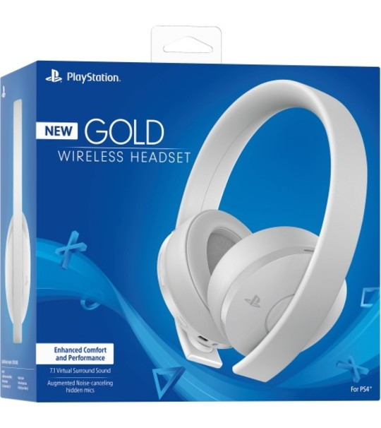 PS4 NEW GOLD SERIES WILRESS HEADSET - WHITE COLOR