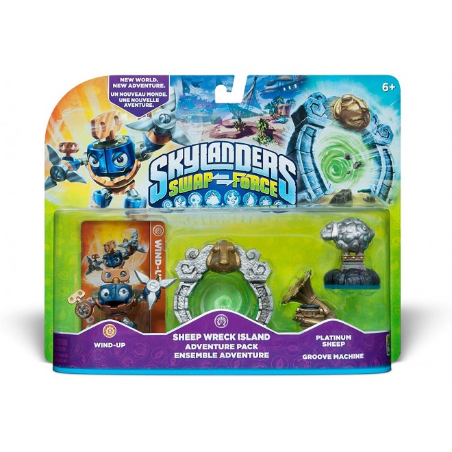 SKYLANDERS SWAP FORCE SHEEP WRRECK ISLAND ADVENTURE PACK