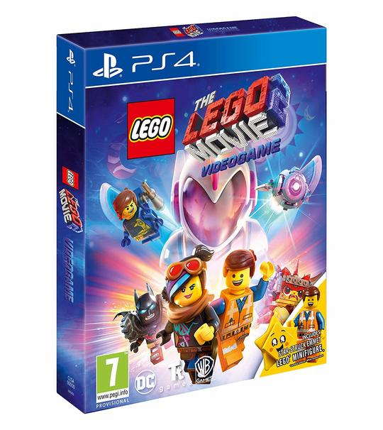 PS4 LEGO MOVIE 2 VIDEO GAME + STAR-STRUCK EMMET LEGO MINI FIGURE R2
