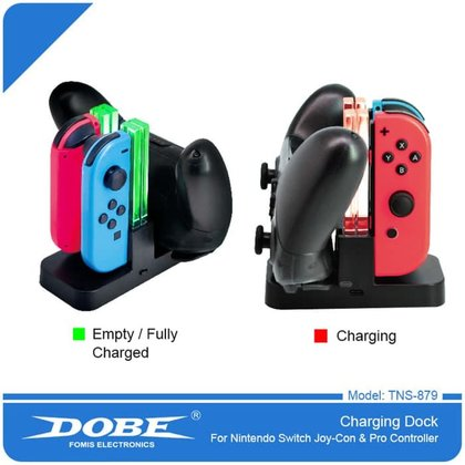 SWITCH DOBE JOY CON AND PRO CONTROLLER CHARGING DOCK TNS-879