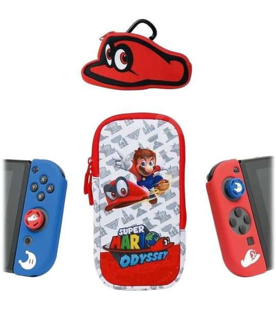 NINTENDO SWITCH SUPER MARIO ODYSSEY 4 IN 1 STARTER KIT - 3RD PARTY