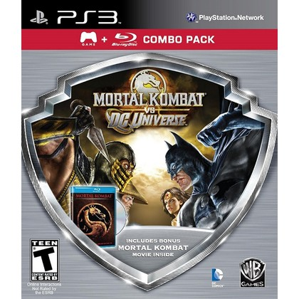PS3 MORTAL KOMBAT VS DC UNIVERSE COMBO PACK WITH MOVIE R1