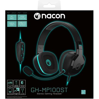 NACON GH-MP100ST STEREO GAMING HEADSET FOR PC/MAC/PS4/PSVITA/MOBILE
