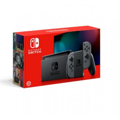 NINTENDO SWITCH CONSOLE (GREY/BLACK) ASIA SET 1 YEAR MAXSOFT WARRANTY + FREE TEMPERED GLASS