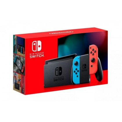 NINTENDO SWITCH CONSOLE (RED/BLUE) EXPORT SET 1 YEAR LOCAL WARRANTY + FREE TEMPERED GLASS + FREE 1 GAMES