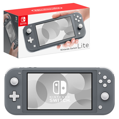 NINTENDO SWITCH LITE GREY LOCAL SET 1 YEAR WARRANTY + FREE TEMPERED GLASS + CARRY CASE
