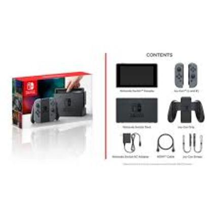 NINTENDO SWITCH CONSOLE (GREY/BLACK) EXPORT SET 1 YEAR LOCAL WARRANTY + FREE TEMPERED GLASS + FREE 1 GAMES