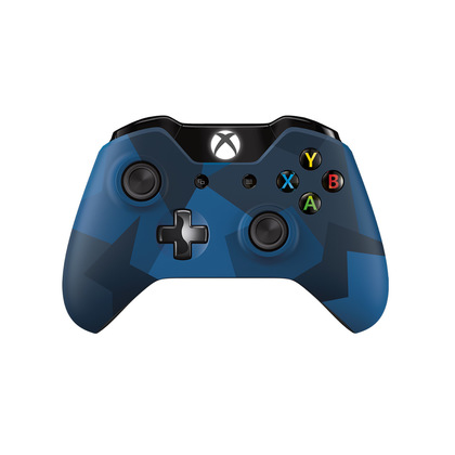 XBOX ONE WIRELESS CONTROLLER BLUE WITH 3.5MM JACK & BLUETOOTH CAMOU MIDNIGHT FORCE II