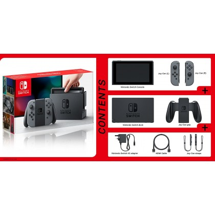NINTENDO SWITCH CONSOLE MINECRAFT BUNDLE - GREY COLOR (LOCAL SUPPLIER WARRANTY)