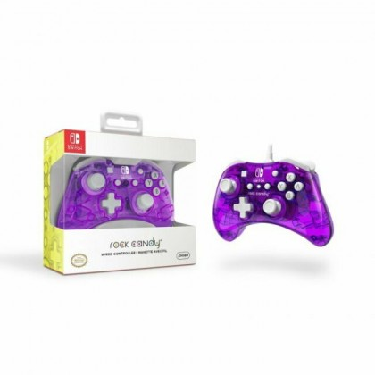 NINTENDO SWITCH ROCK CANDY WIRED CONTROLLER COSMO BERRY PURPLE