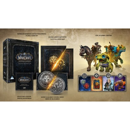 PC WORLD OF WARCRAFT BATTLE FOR AZEROTH COLLECTOR EIDTION