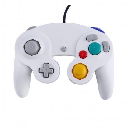 WII GAMECUBE EMIO WIRED CONTROLLER - WHITE