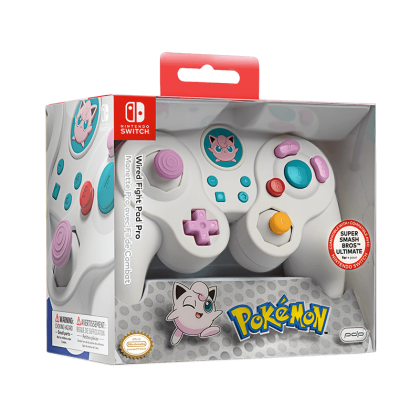 NINTENDO SWITCH PDP FIGHT PAD PRO POKEMON JIGGLYPUFF CONTROLLER