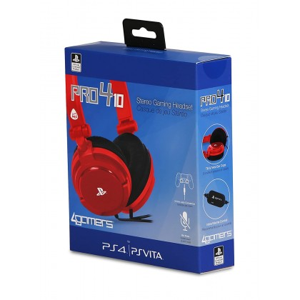 PLAYSTATION 4GAMERS PRO4-10 STEREO GAMING HEADSET - RED