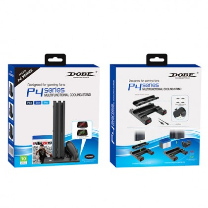 PS4 DOBE MULTI FUNCTIONAL CHARGING AND COOLING STAND WITH LIGHT TP4-19076