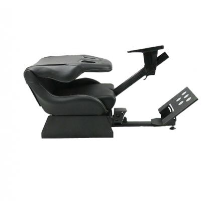 FOLDABLE EVOLUTION GT RACING SIMULATION SEAT BLACK + GEAR SHIFT HOLDER  - GTX-001