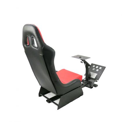 FOLDABLE EVOLUTION GT RACING SIMULATION SEAT BLACK/RED + GEAR SHIFT HOLDER - GTX-020