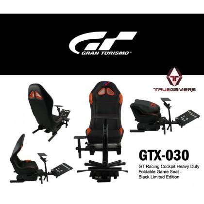 FOLDABLE EVOLUTION GT RACING SIMULATION SEAT BLACK LIMITED EDITION + GEAR SHIFT HOLDER - GTX-030