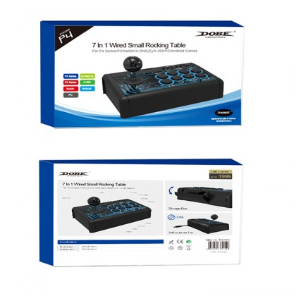 PS4 DOBE 7 IN 1 ARCADE FIGHTING STICK TP4-1886 (PS4/PS3/XB1/XB1X,S/NS/ANDROID/PC)