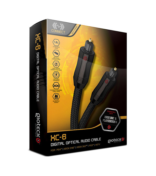 Gioteck Multi-format Digital Optical Audio Cable XC6-HQ