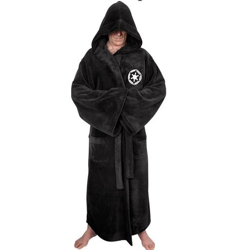 21a08f1dbd Star Wars - Galactic Empire Fleece Robe - Black Logo - Adult One Size