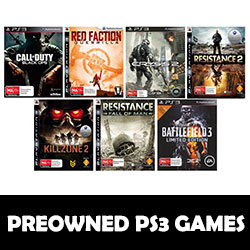 PS3 GAMES PREOWNED