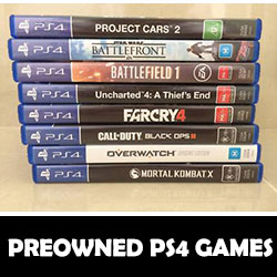 PS4 GAMES PREOWNED